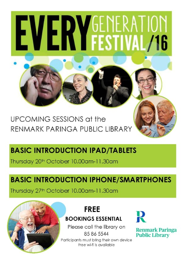 IT lessons for Every Generation Month at Renmark Paringa Library