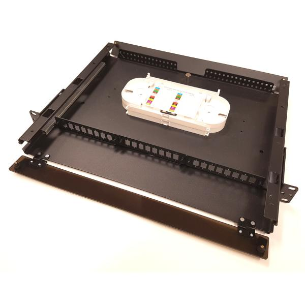 Fiber Optic Rack Mount Enclosure With Unloaded LGX Adapter Panels