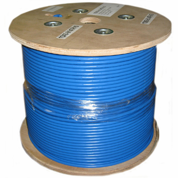 1000' CAT6a Network Cable - Blue - CMR