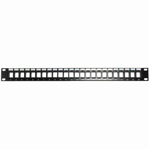 Blank 24 Port (1U) Keystone Patch Panel