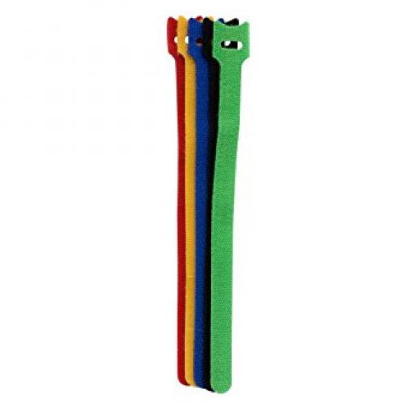 """Pack of 6 9"""" Multicolour Velcro Cable Ties - 15mm Wide"""