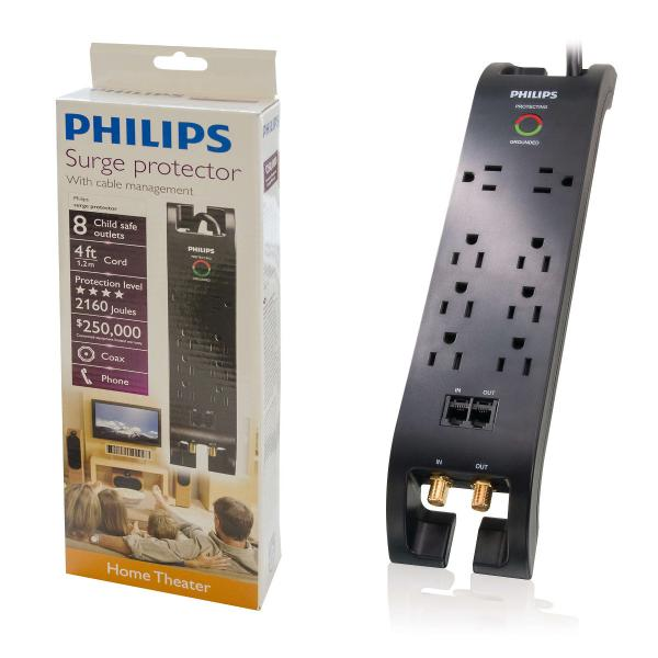 Philips Home Electronics Surge Protector