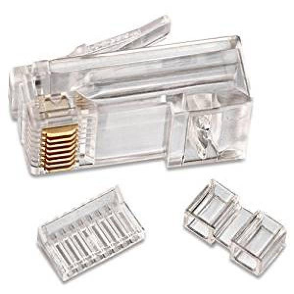 CAT6a/7 RJ45 Connector w/ Two Inserts - 50 Pack