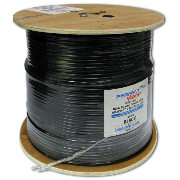 1000' Outdoor RG6 CATV MaxPipe Coax Cable
