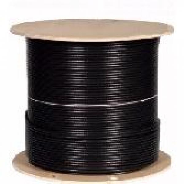 1000' CAT6a Network Cable U/FTP - Black - CMR