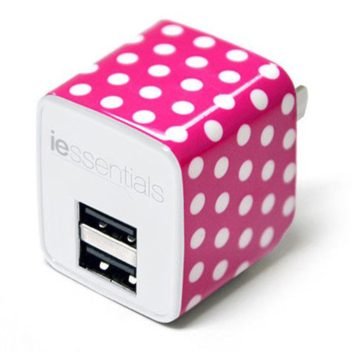 iEssentials Dual USB 2.4A Wall Charger