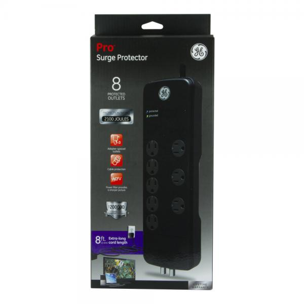 GE 8 Outlet Surge Protector NEW!
