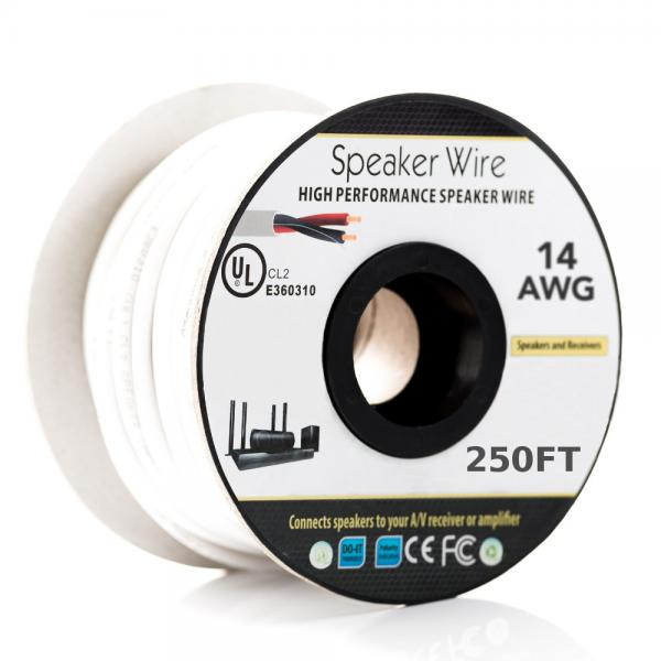 14AWG Speaker Wire - 2 Conductor - CL2 Fire Rated