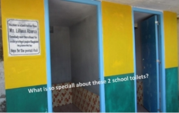 A girl and a boy toilet at a school in Sathkhira