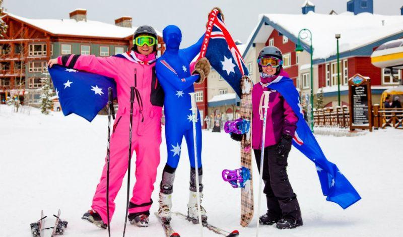 26th January - Australia Day on snow at Big White