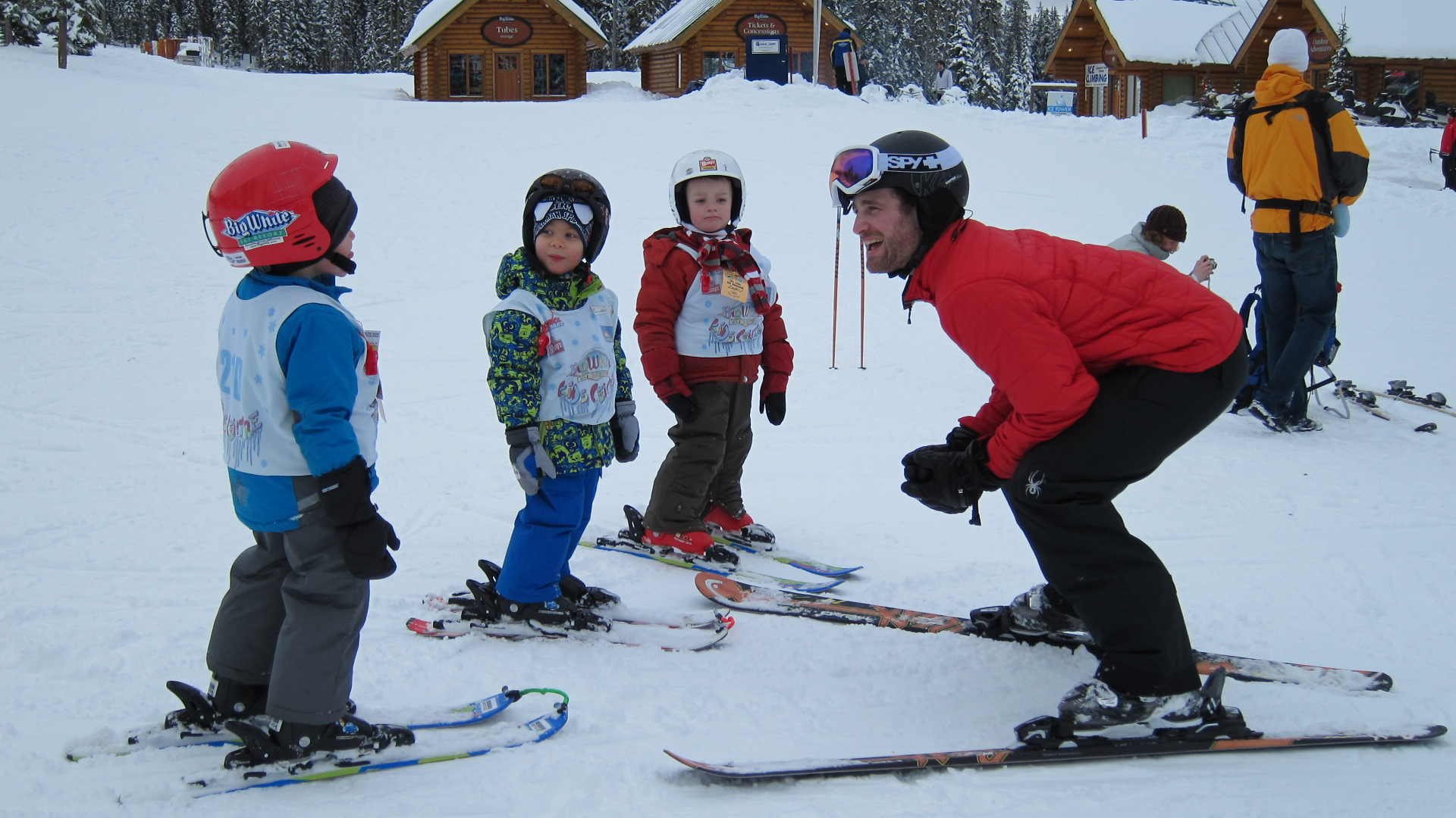Little ones learn to ski at Big White