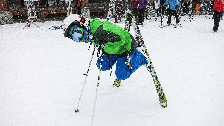 Taking a break at Big White Ski Resort
