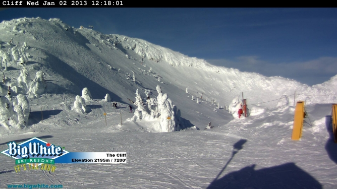 View of The Cliff  and double black diamond runs