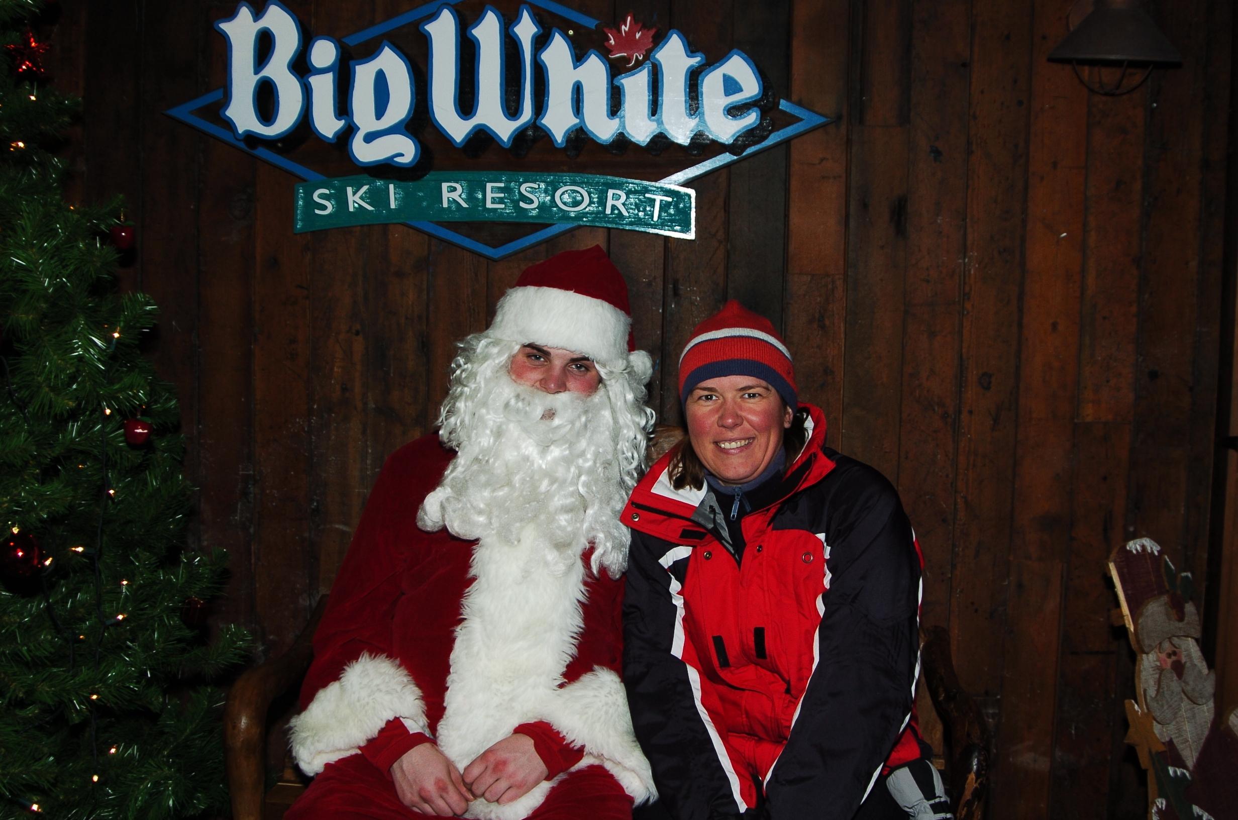 Santa at Big White