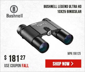 Bushnell Legend Ultra HD Binocular 10x25 Legend Ultra HD