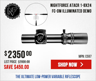 Nightforce ATACR 1-8x24 F1 FC-DM Demo - Save $450