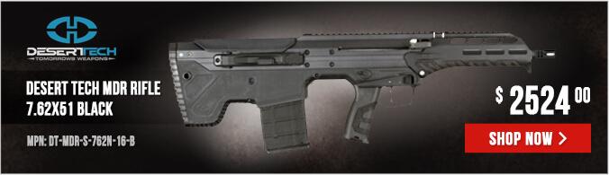 Desert Tech MDR Rifle 7.62X51 Black DT-MDR-S-762N-16-B