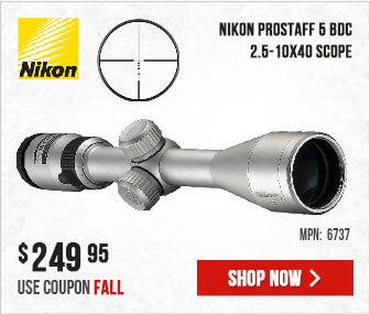 Nikon PROSTAFF 5 Riflescope 2.5-10x40 BDC SILVER 6737