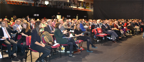 Some of the 200 delegates to the European Disability Forum meeting