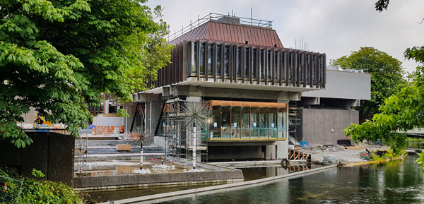 Christchurch town hall riverside frontage 2019