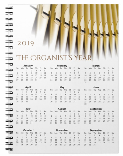 2019 blank journal for organists
