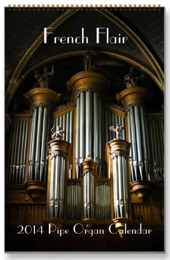 French flair 2015  pipe organ calendar
