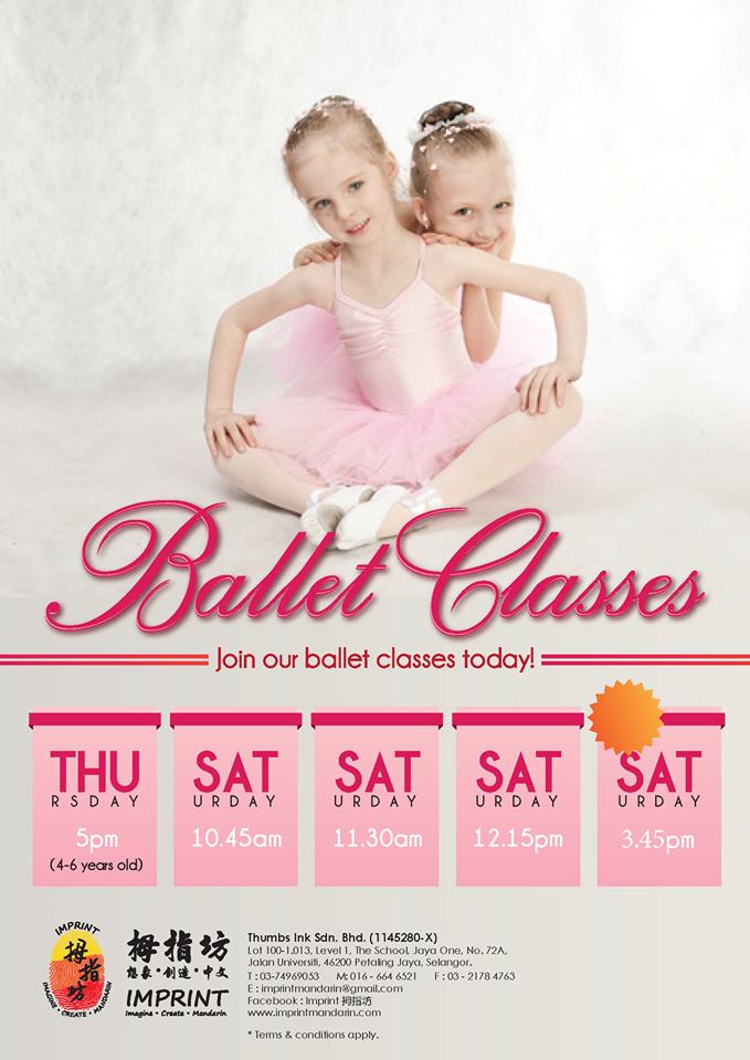 Ballet Classes @ Imprint Mandarin