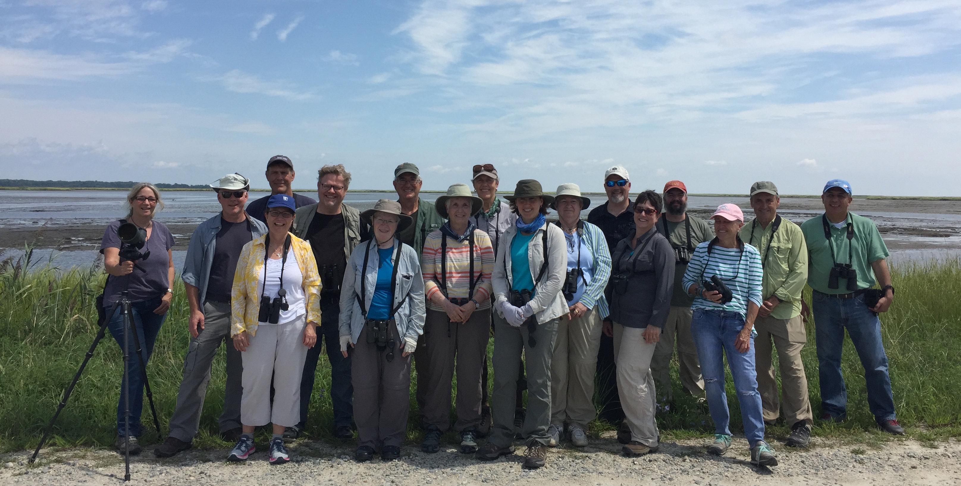 Shorebirds Class and Field Trip participants