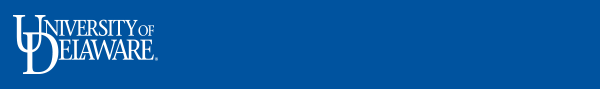 University of Delaware Logo Header