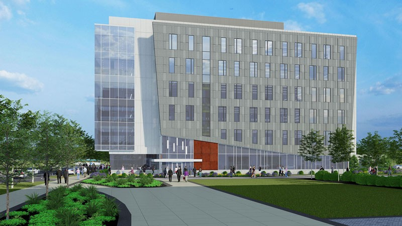 Artists rendering of FinTech Building on STAR Campus