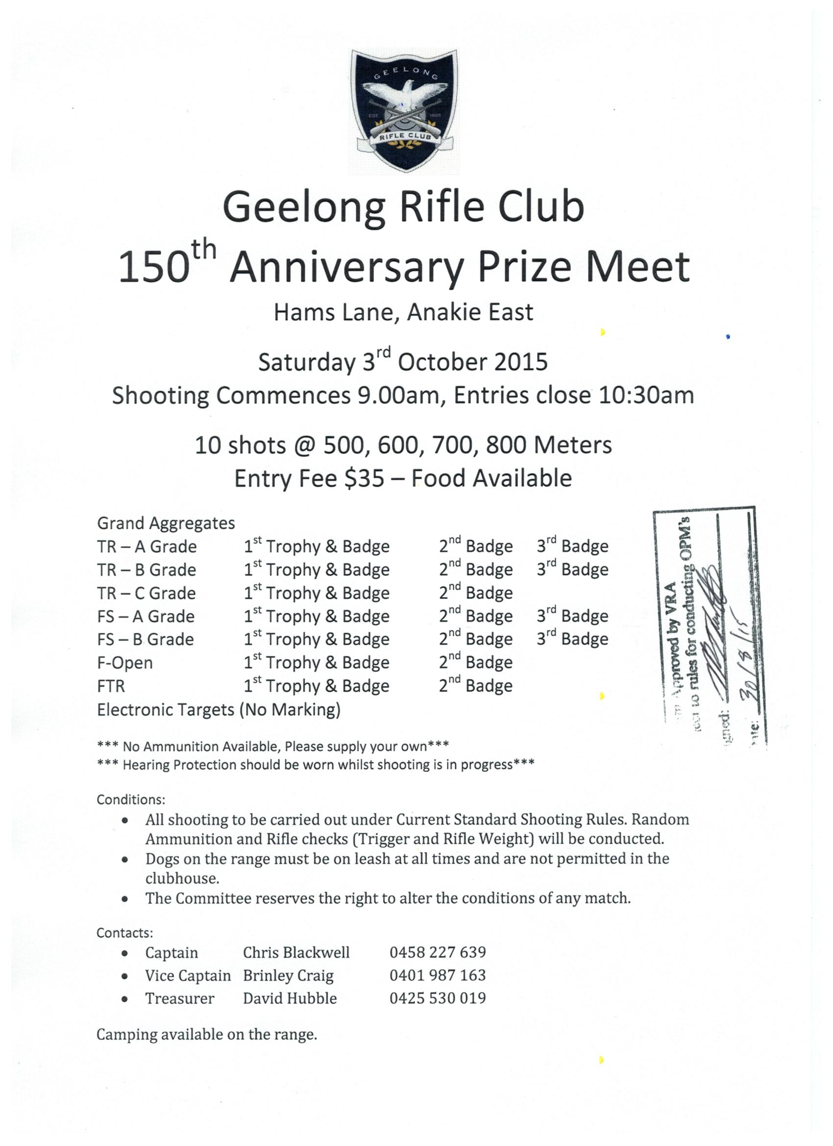 Geelong 150th Prize Meeting