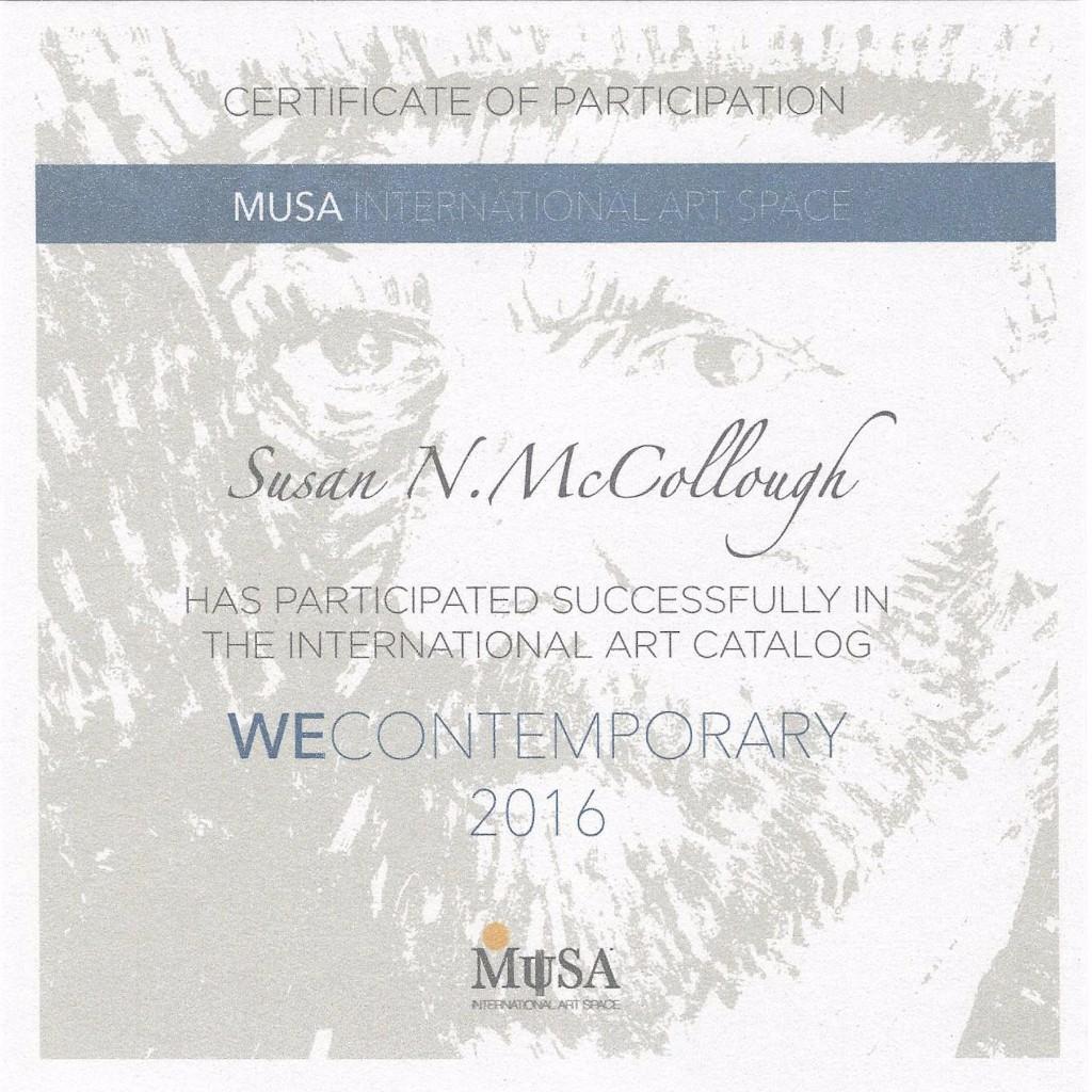 Certificate-MUSA-We Contemporary