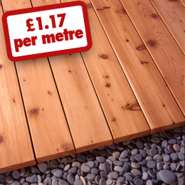 30% off 25 x 90 Cedardeck - Only £1.17 per metre