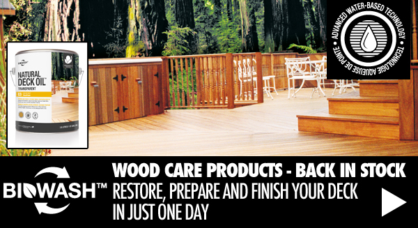 Biowash Wood Care Products Back In Stock