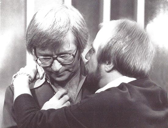 Arte Johnson and Bruce Belland