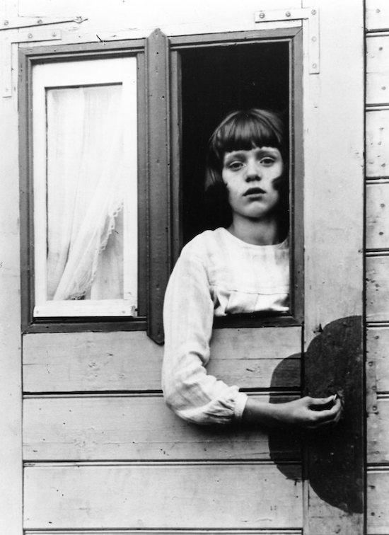 Young Girl in Circus Caravan