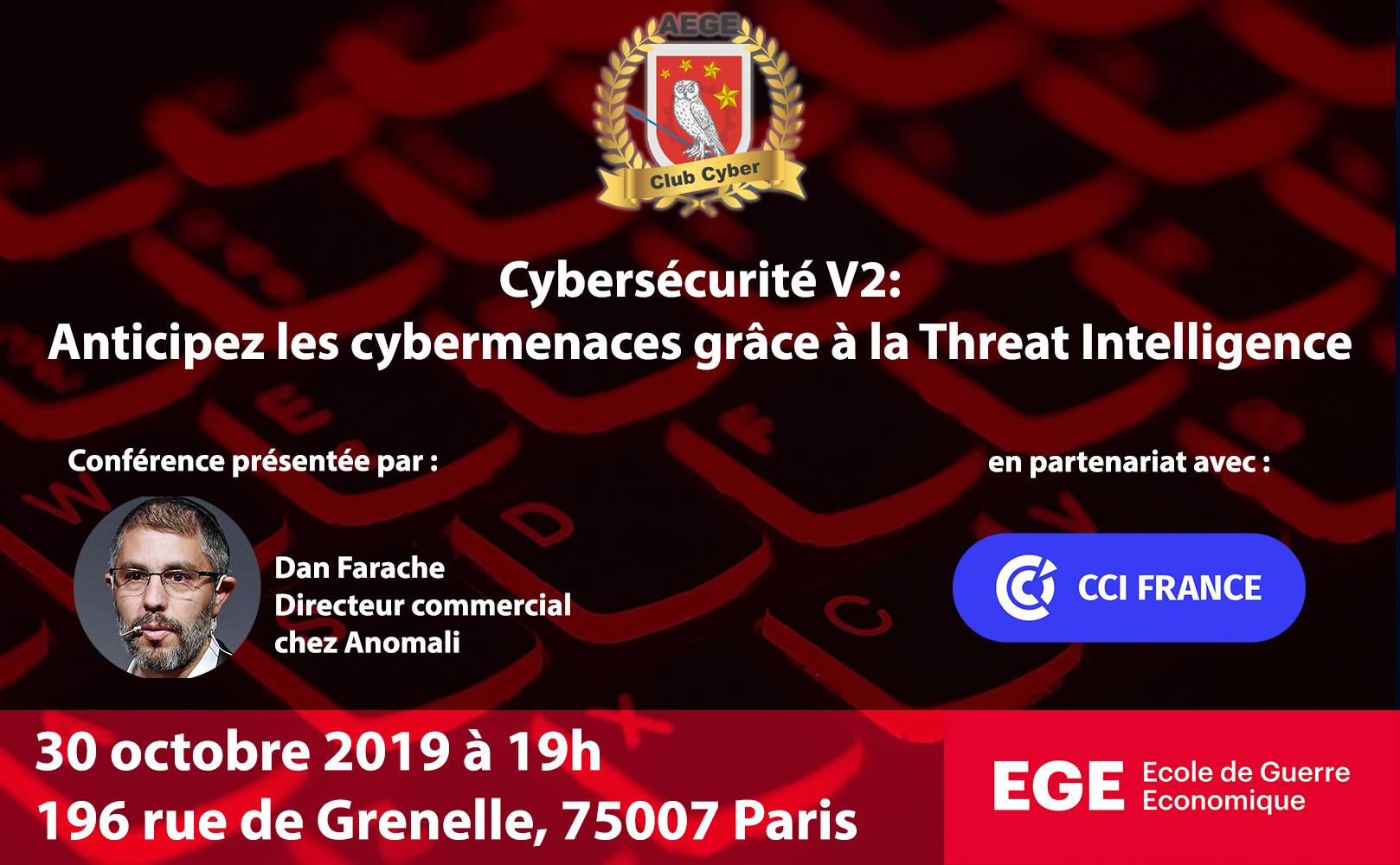 Presentation conference Anomali AEGE club Cyber Freani