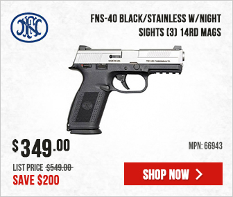 FNS-40 Black/Stainless w/Night Sights (3) 14rd Mags 66943