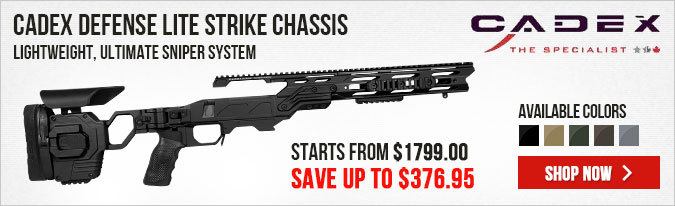 Cadex Defense Lite Strike Chassis