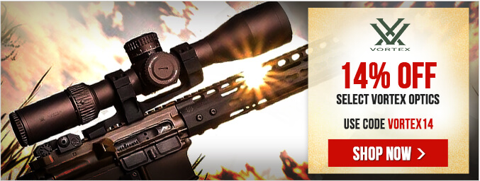 14% Off Eligible Vortex Optics - Use Code VORTEX14