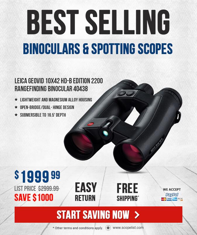 Leica Geovid 10x42 HD-B Edition 2200 Rangefinding Binocular 40438