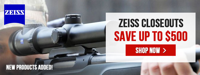 ZEISS CLOSEOUTS - Save Up To $500!