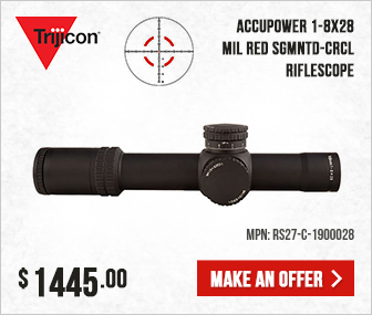 Trijicon AccuPower 1-8x28 MIL Red Sgmntd-Crcl Scope RS27-C-1900028