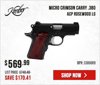 Kimber Micro Crimson Carry .380 ACP Rosewood LG 3300089
