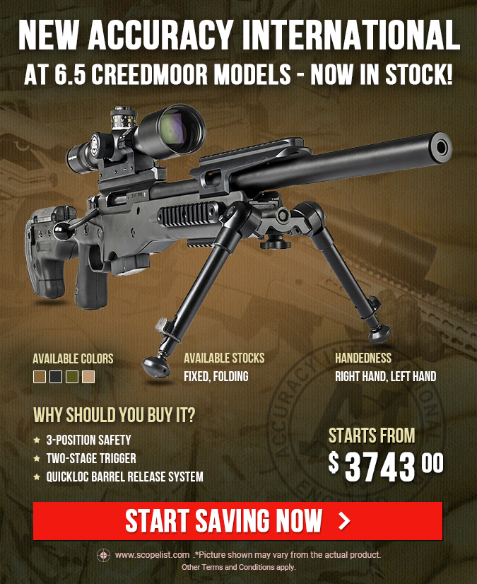 NEW Accuracy International AT 6.5 Creedmoor Models - Now In Stock