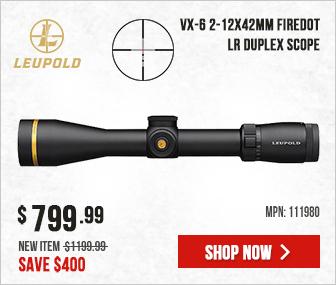 Leupold VX-6 2-12x42mm FireDot LR Duplex 111980