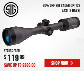 20% OFF Sig Sauer Optics