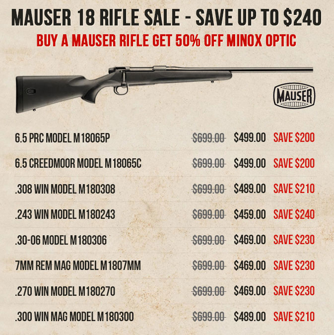 Mauser M18 Rifle Sale