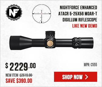 Nightforce ATACR 5-25x56 Zerostop .25 MOA MOAR-T Digillum C555 Like New Demo