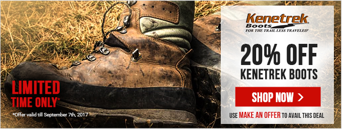 Enjoy 20% Off All In-Stock Kenetrek Boots